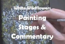 White Wildflowers - Painting Stages