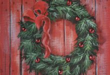 Dec 5: Red Barn Wreath
