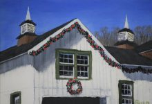 Dec 1st: White Barn At Christmas